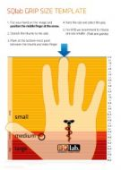 SQ Lab Grip size template